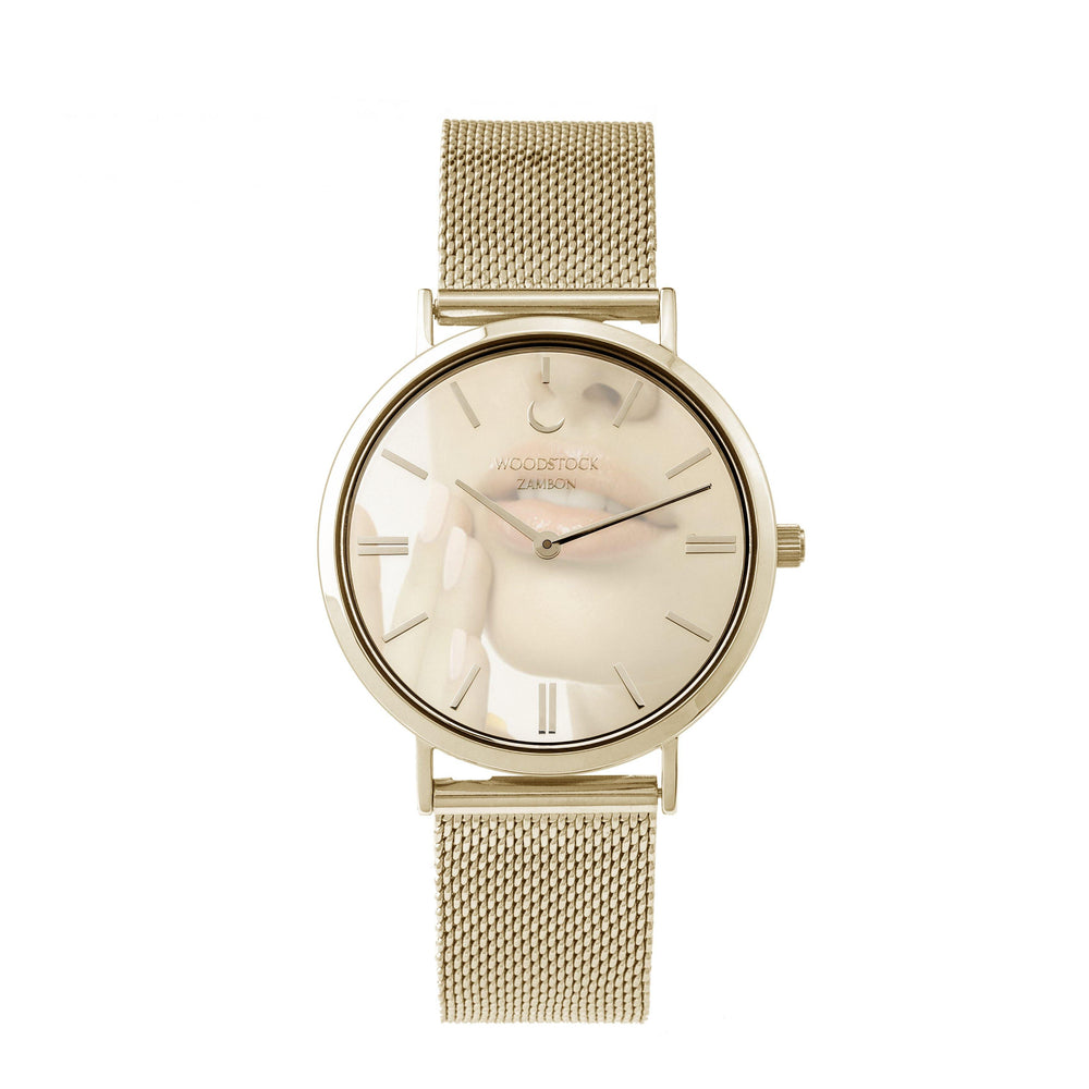 Champagne Mirror Watch