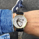 """Vintage Heart"" Man Watch"