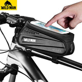 WILD MAN Touch Screen Bicycle Top Tube Saddle Bag