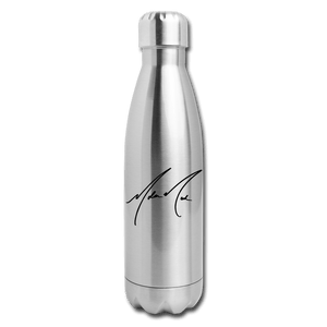 """Lost"" by Nolan Neal Insulated Stainless Steel Water Bottle - silver"