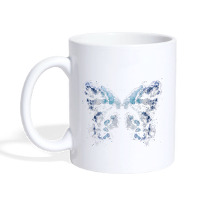 """Send Me A Butterfly"" Coffee Mug - white"