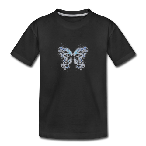"""Send Me A Butterfly"" Kids' T-Shirt - black"