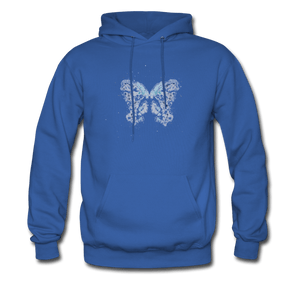 """Send Me A Butterfly"" Men's Hoodie - royal blue"