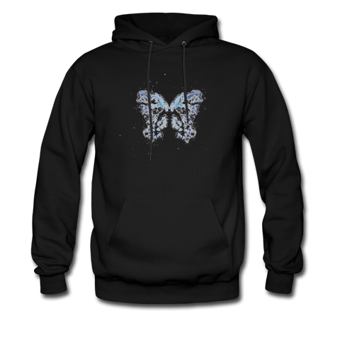 """Send Me A Butterfly"" Men's Hoodie - black"