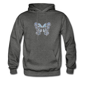 """Send Me A Butterfly"" Men's Hoodie - charcoal gray"