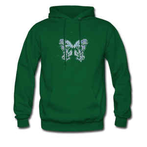 """Send Me A Butterfly"" Men's Hoodie - forest green"