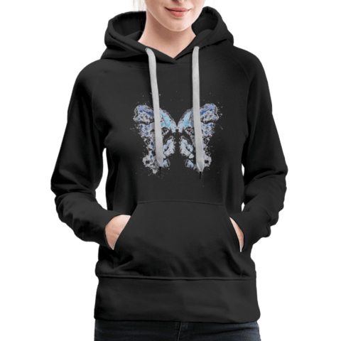 """Send Me A Butterfly"" Women's Hoodie - black"