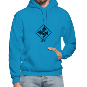 "Nolan Neal's ""Lost"" Unisex Hoodie - turquoise"