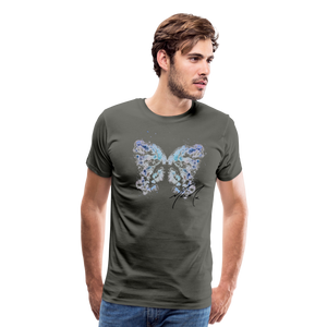 """Send Me A Butterfly"" T-Shirt - asphalt gray"