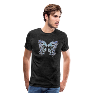 """Send Me A Butterfly"" T-Shirt - charcoal gray"