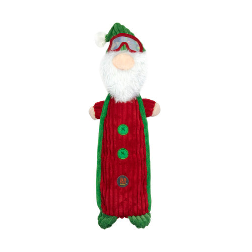 Charming Pet Crunchy Bottle Bros Christmas Dog Toy - Santa Gnome