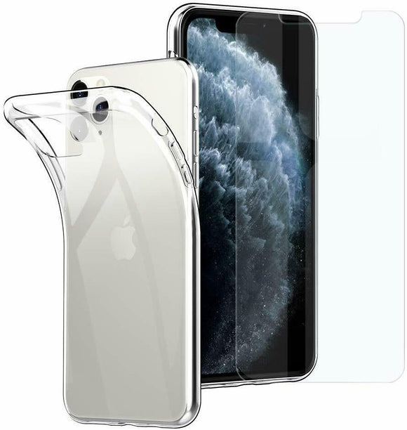 Custodia Cover slim Trasparente Silicone TPU per APPLE IPHONE X / XS / XS MAX / XR / 11 / 11 PRO / 11 PRO MAX
