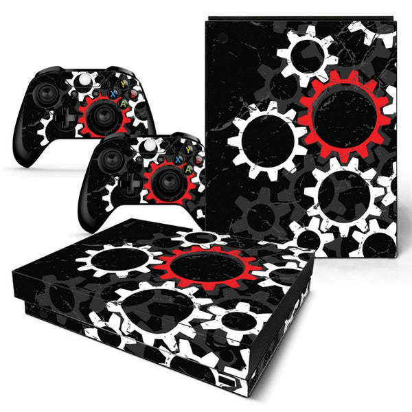 Deco Gear Vinyl Skin Sticker Cover Decal for Microsoft Xbox One X Console and Controllers