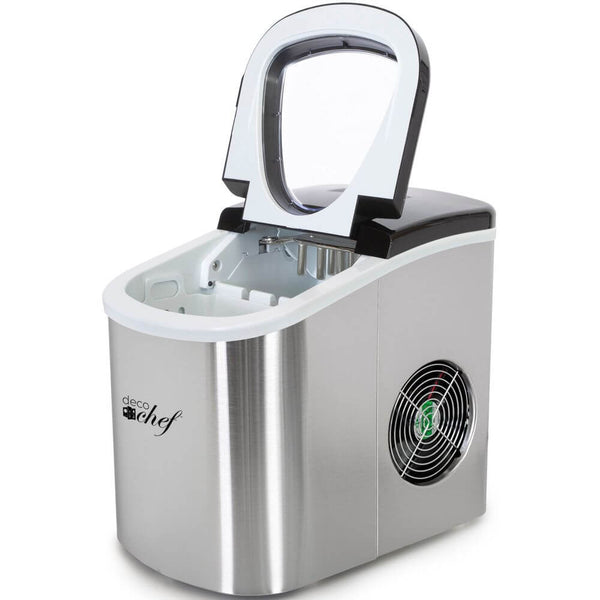 Deco Gear Rapid Electric Ice Maker - Compact Top Load 26 Lbs. Per Day Capacity - Great For Hosting Never Run Out Of Ice Again (Stainless Steel)