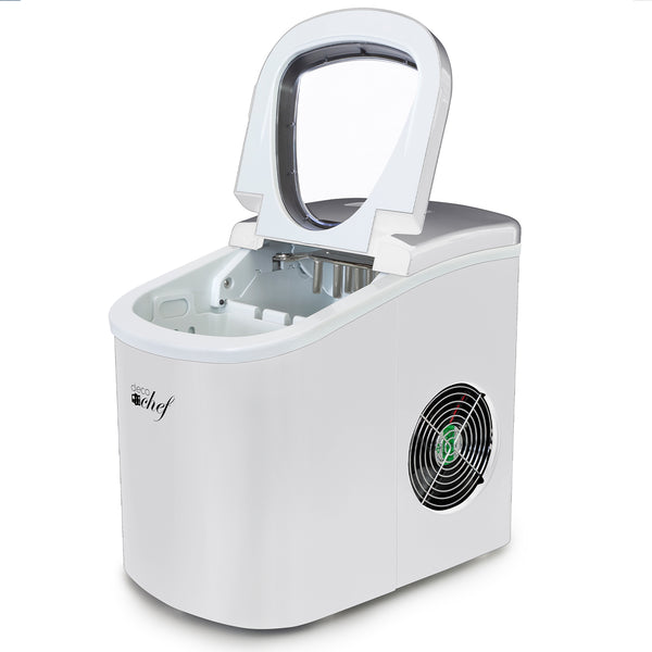Deco Gear Rapid Electric Party Ice Maker - Compact Top Load 26 Lbs. Per Day Capacity - Great For Hosting Never Run Out Of Ice Again (White)