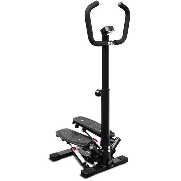 Deco Home Exercise Step Machine w/ Adjustable Stability Handle Bars, Non-Slip Pedals, and LCD Tracking Display, Low-Impact Fitness Equipment for Homes, Apartments, Dorms, and more