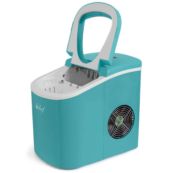Deco Gear Rapid Electric Ice Maker - Compact Top Load 26 Lbs. Per Day Capacity - Great For Hosting Never Run Out Of Ice Again (Turquoise)