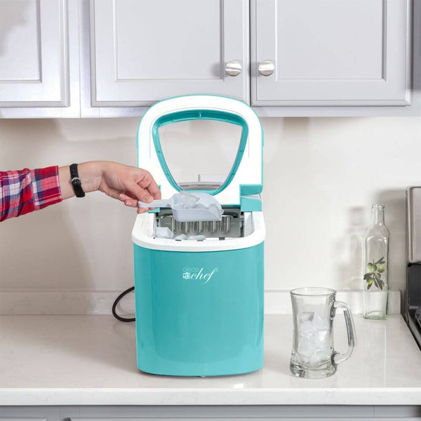 Deco Gear Rapid Electric Party Ice Maker - Compact Top Load 26 Lbs. Per Day Capacity - Great For Hosting Never Run Out Of Ice Again (Turquoise)