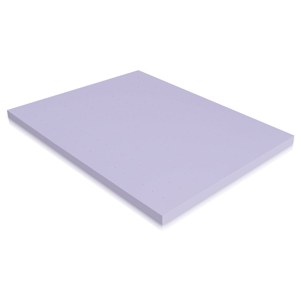 Deco Home 3 Inch Queen Memory Foam Mattress Topper with Relaxing Infused Lavender Scent, Ventilated Air Flow for Comfortable Sleeping, Reduces Pressure Points, More Restful Sleep