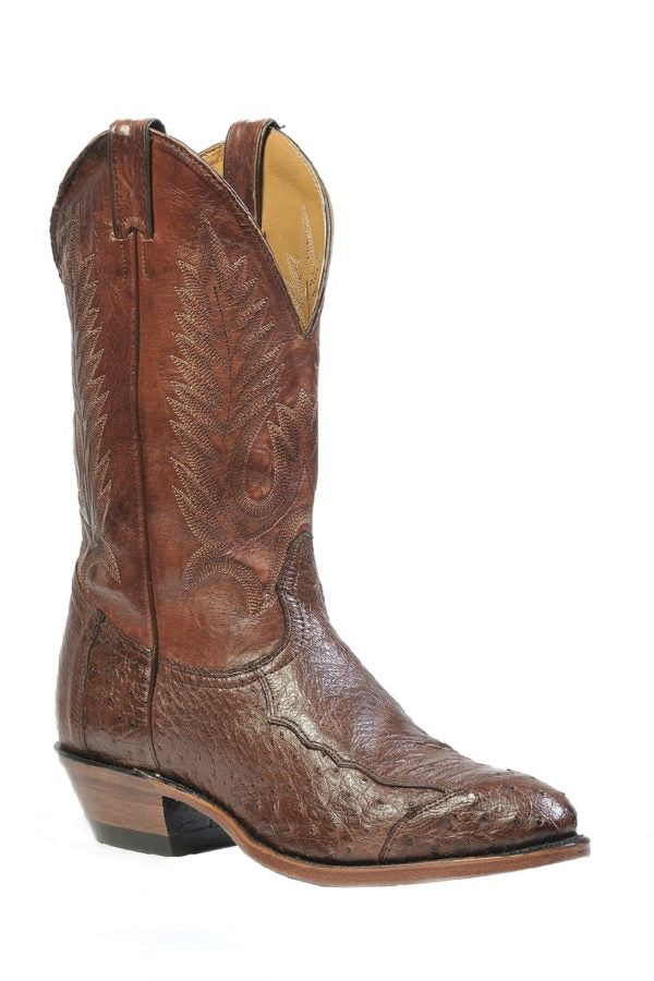 Boulet Boots Style #1505 _MEN'S WESTERN BOOT OSTRICH - Boulet - Drew's Boots