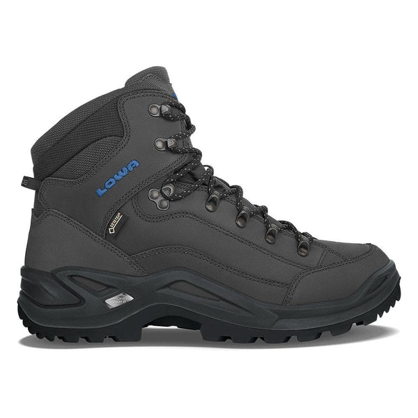 Lowa Renegade GTX Mid - Anthracite & Steel Blue - Baker's Boots and Clothing