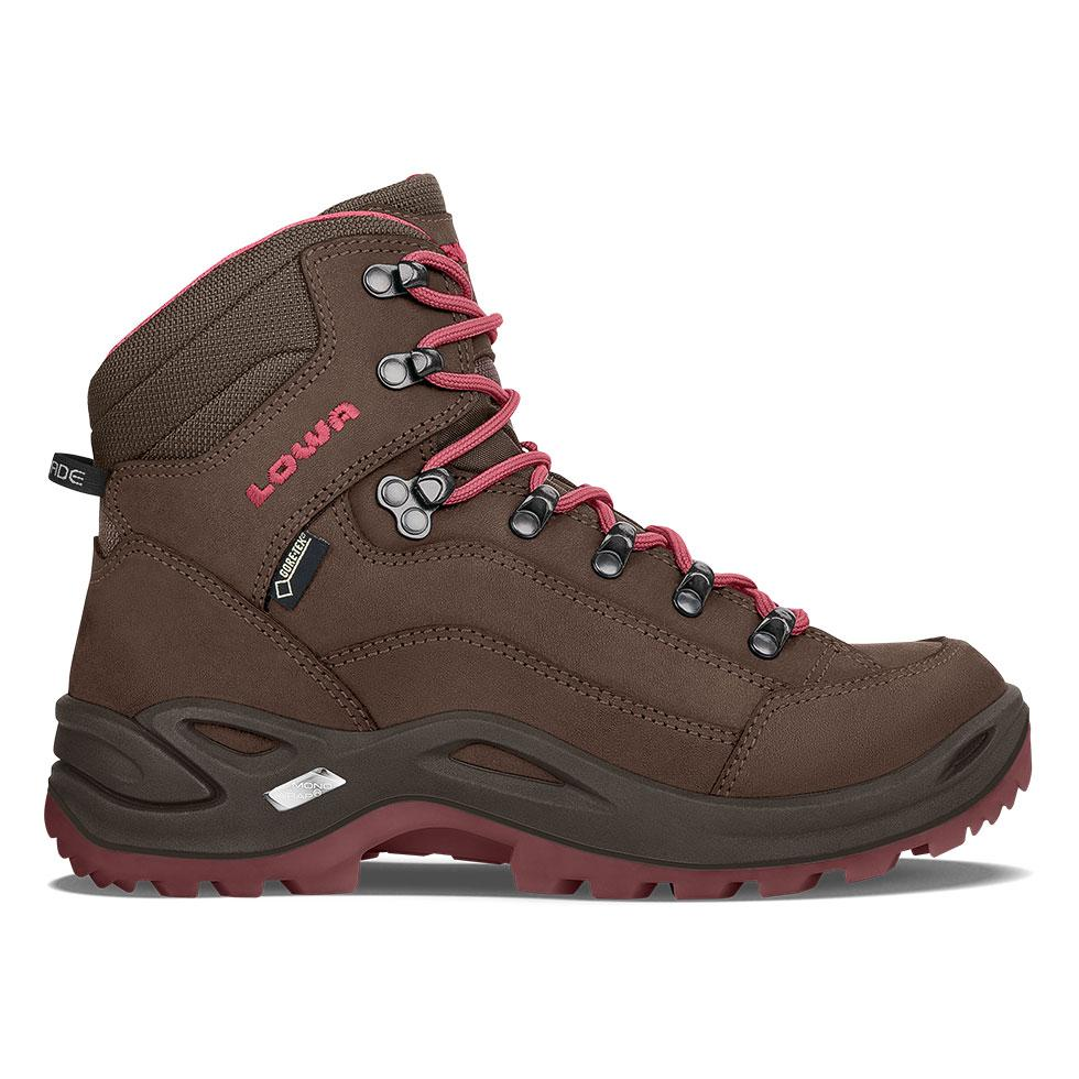 Lowa Renegade GTX Mid Women's- Espresso/Berry - Baker's Boots and Clothing