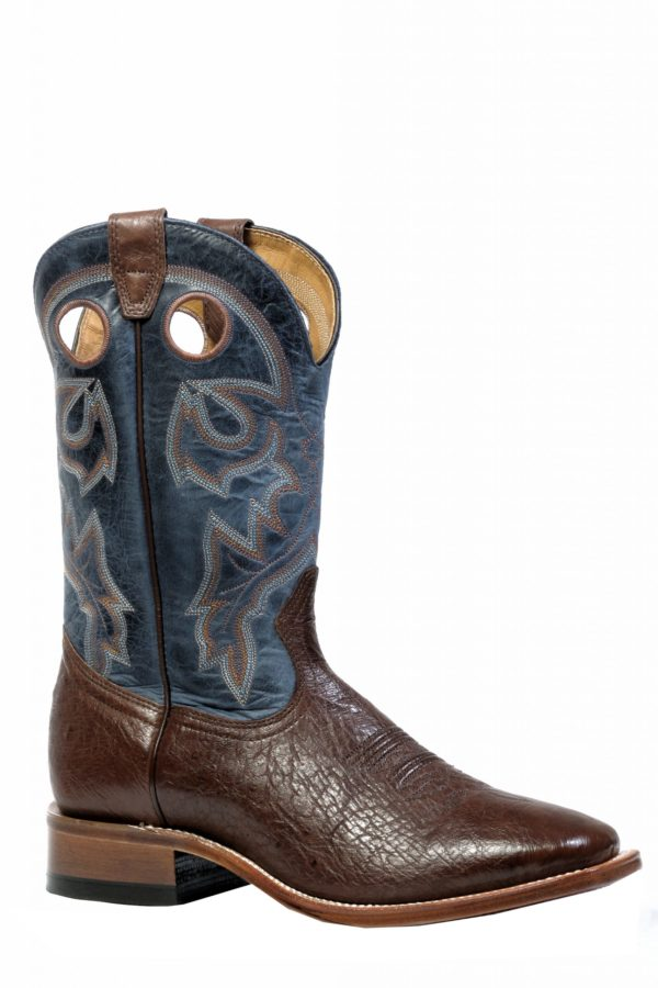 Boulet Boots Style #4506 _MEN'S WESTERN BOOT OSTRICH - Boulet - Drew's Boots