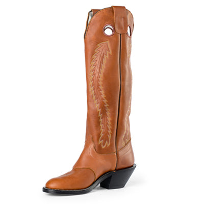 Olathe Boot Style #6720 Brown Mule - Olathe Boot - Drew's Boots