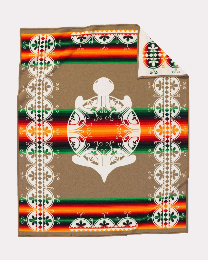 Pendleton Legendary Collection Jacquard Robe - Creation Turtle (Twin Blanket) - Pendleton - Drew's Boots