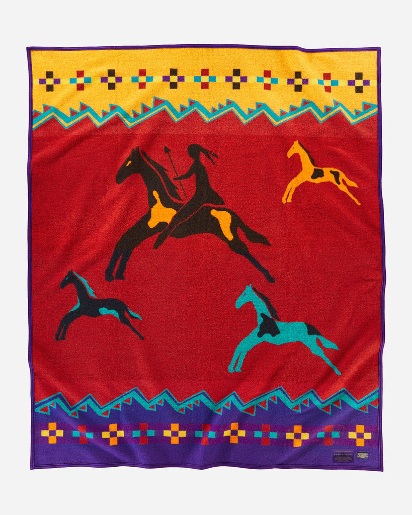 Pendleton Legendary Collection Jacquard Robe - Celebrate the Horse 2019 (Twin Blanket) - Pendleton - Drew's Boots