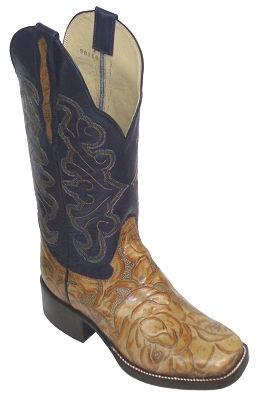 Drew's Roper Cowboy Boot Style #DRH9412F - Drew's Boots - Drew's Boots