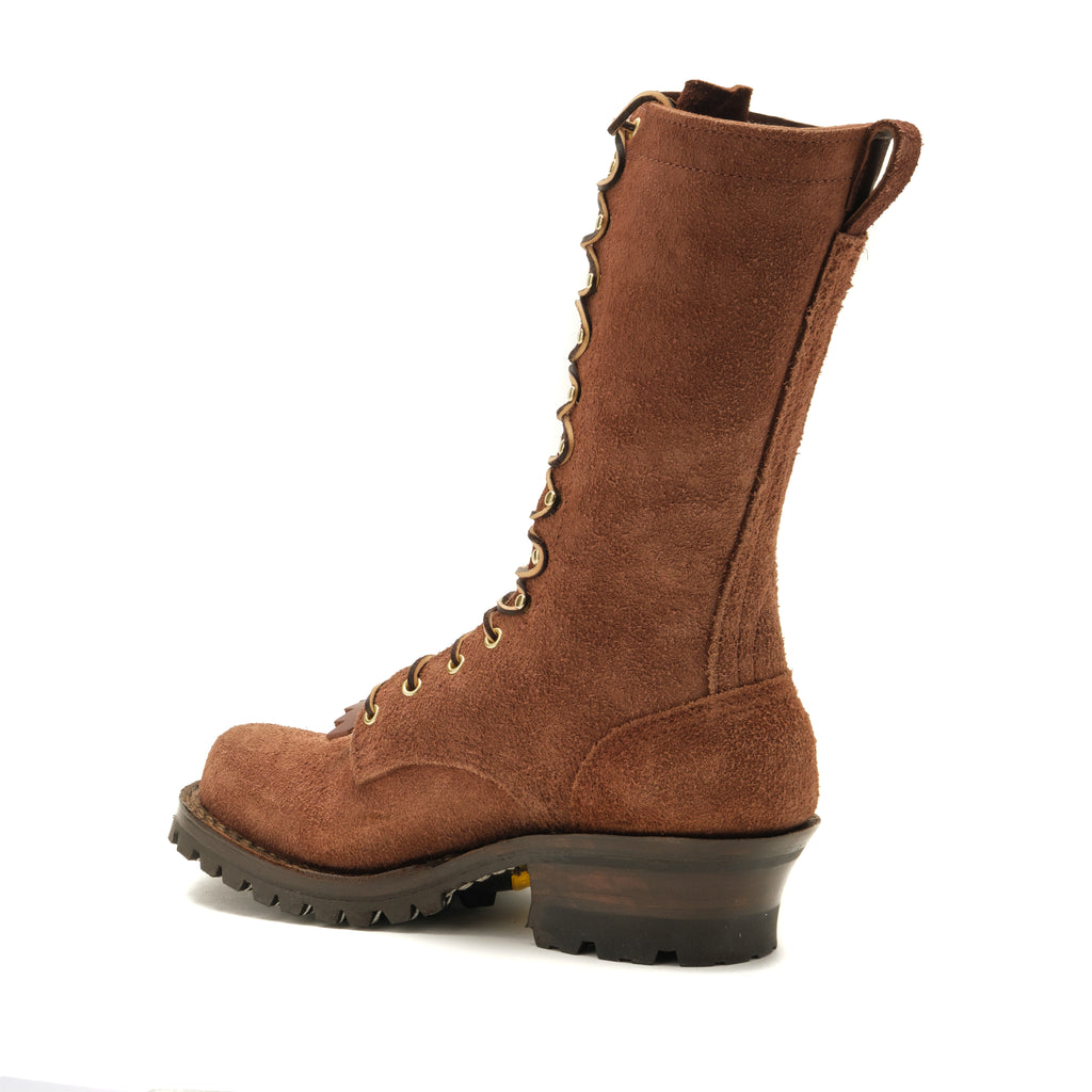 "Drew's 12"" Elk Tan Roughshot Style #DROP12V (Ready to Ship) - Drew's Boots - Drew's Boots"