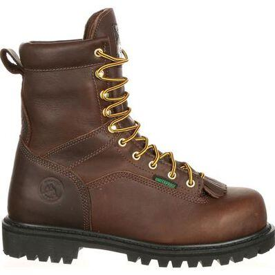GEORGIA BOOT LACE-TO-TOE WATERPROOF WORK BOOT - Baker's Boots and Clothing