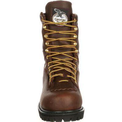 GEORGIA BOOT LACE-TO-TOE STEEL TOE WATERPROOF WORK BOOT - Baker's Boots and Clothing