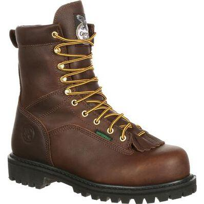 GEORGIA BOOT LACE-TO-TOE STEEL TOE WATERPROOF WORK BOOT - GEORGIA - Drew's Boots