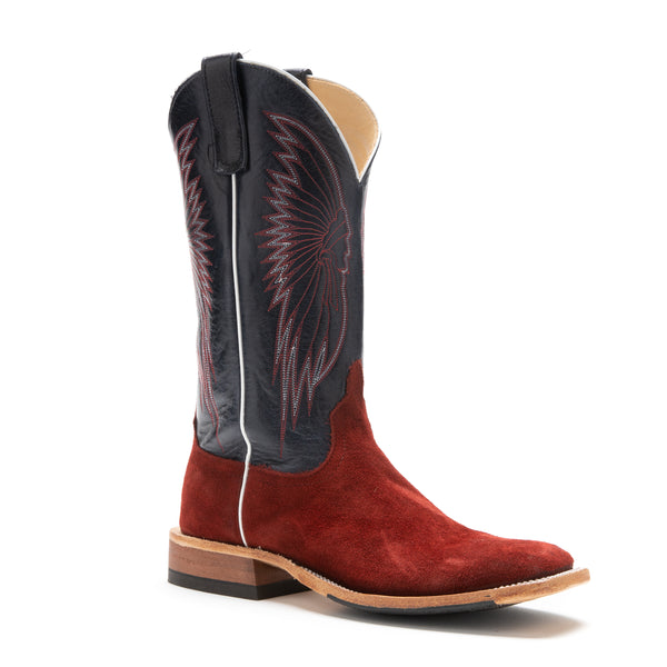 Anderson Bean Hot Red Waxy Kudu #330007 - Drew's Exclusive - Anderson Bean - Drew's Boots