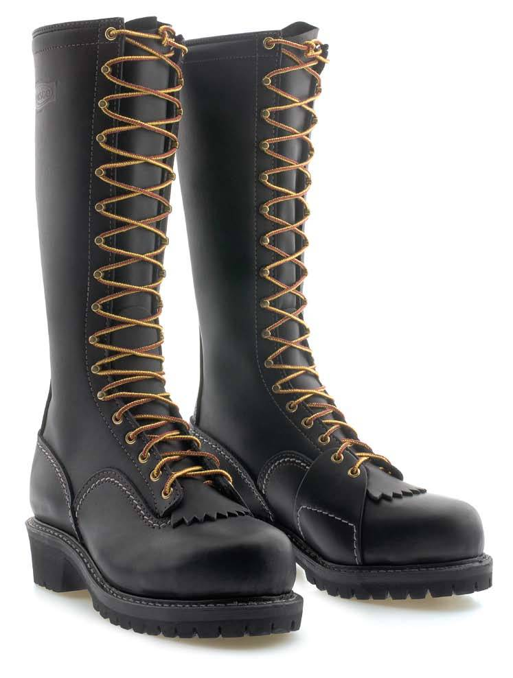 Standard Wesco Voltfoe - 16'' - Black Leather - EHBK5716109 - Baker's Boots and Clothing