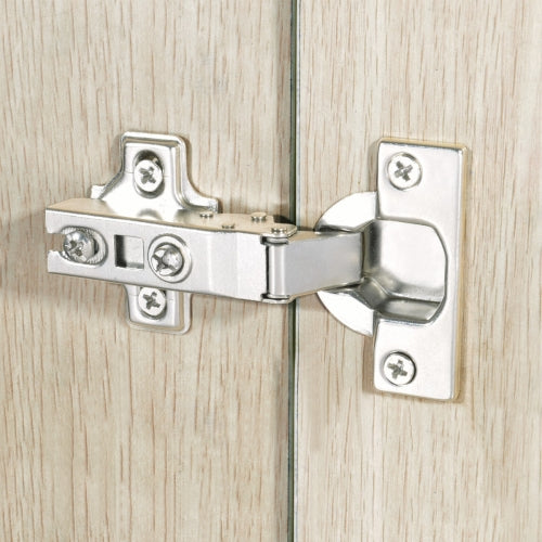 110 Degree Overlay Clip Top Cabinet Hinge, 3/8-inch - 5/8-inch Overlay, Nickel Plated Finish, 1-Pair