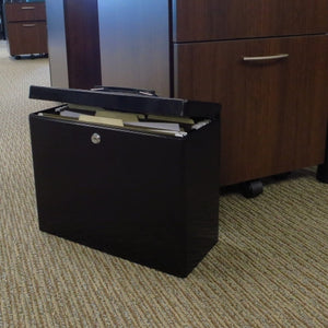 Lockable Steel Security Filing Box, Black