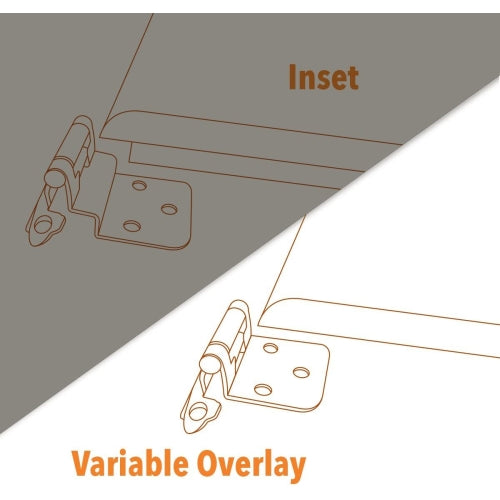 Variable Overlay Cabinet Hinge