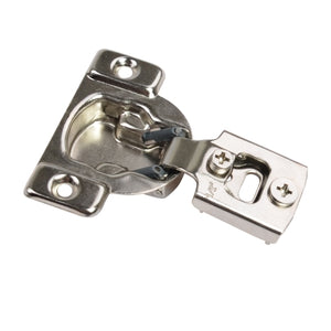 108 Degree Compact 1/2-inch Overlay Cabinet Hinge, 35mm Face Frame, Nickel Plated Finish, 10-Pack