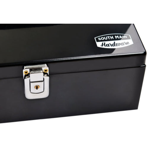Steel Cash Box with 7-Compartment Insert Tray, Black