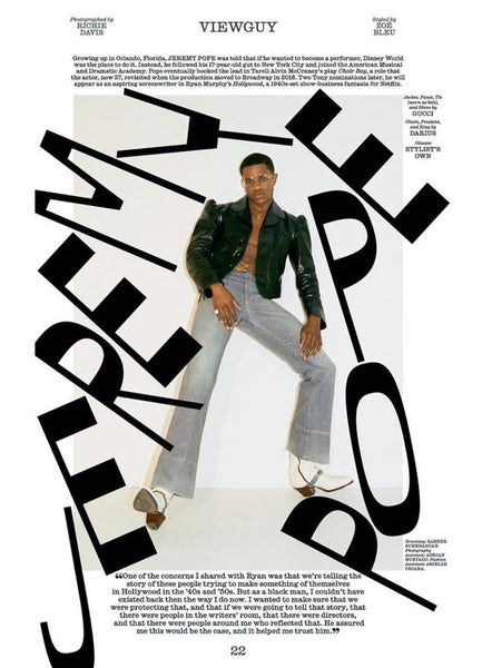 Interview Magazine Spring 2020, After a Historic Year on Broadway, Jeremy Pope Heads to Hollywood