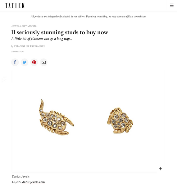 Darius Jewels Tatler Feature Holiday 2020 Gift Guide