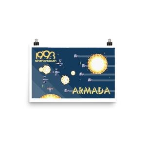 Open image in slideshow, Armada w/Text Poster