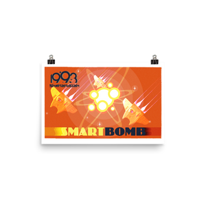 Open image in slideshow, Smart Bomb w/Text Poster