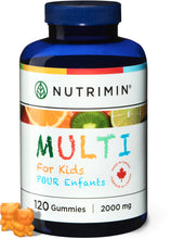 Load image into Gallery viewer, Multi for Kids Multivitamin Gummies - 120 count - Nutrimin Canada