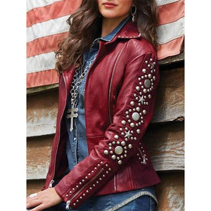 Women's Long Sleeve Short Rivet Jacket