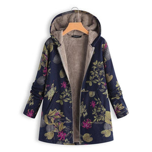Warm Cotton Printed With Velvet Padded Coat  | ZDT
