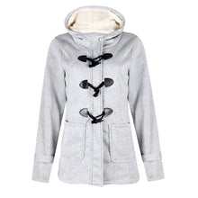 Load image into Gallery viewer, Oversized Women's Hooded Jacket Pocket Hooded Long Sleeve Coat